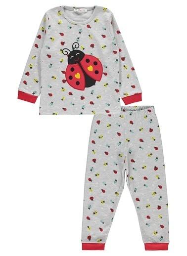 Civil Girls Kız Çocuk Pijama Takım Gri